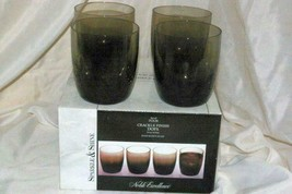 Noble Excellence Sparkle And Shine Set Of 4 Smoke Crackle Glass Gold Tri... - $27.71