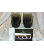 Noble Excellence Sparkle And Shine Set Of 4 Smoke Crackle Glass Gold Tri... - $25.19