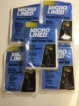 Lot of 15 Micro Lined Hoover Wind Tunnel Type Y Bags New 5 Packs of 4 bags - $18.69
