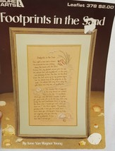 Footprints in the Sand Cross Stitch Leaflet Book Leisure Arts 378 Religious 1985 - $14.99