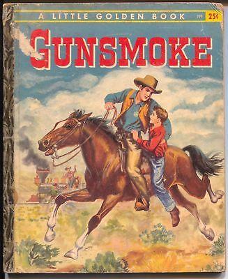 Gunsmoke #320 1958-Little Golden Book-James Arness TV show-VG-