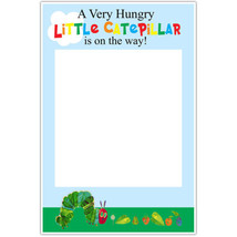 Hungry Caterpillar Baby Shower Selfie Frame Social Media Photo Prop Poster - $16.34+