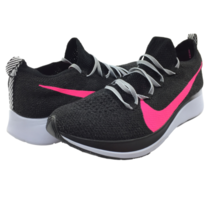 NIB Nike Womens Zoom Fly Flyknit Black/Hyper Pink Running Shoes AR4562002 US 9.5 - $156.75