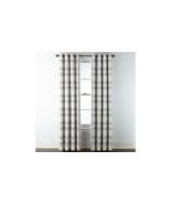 (1) JCP Home Sullivan Plaid OXIDE GRAY Blackout Grommet Curtain Panel 50... - $39.79