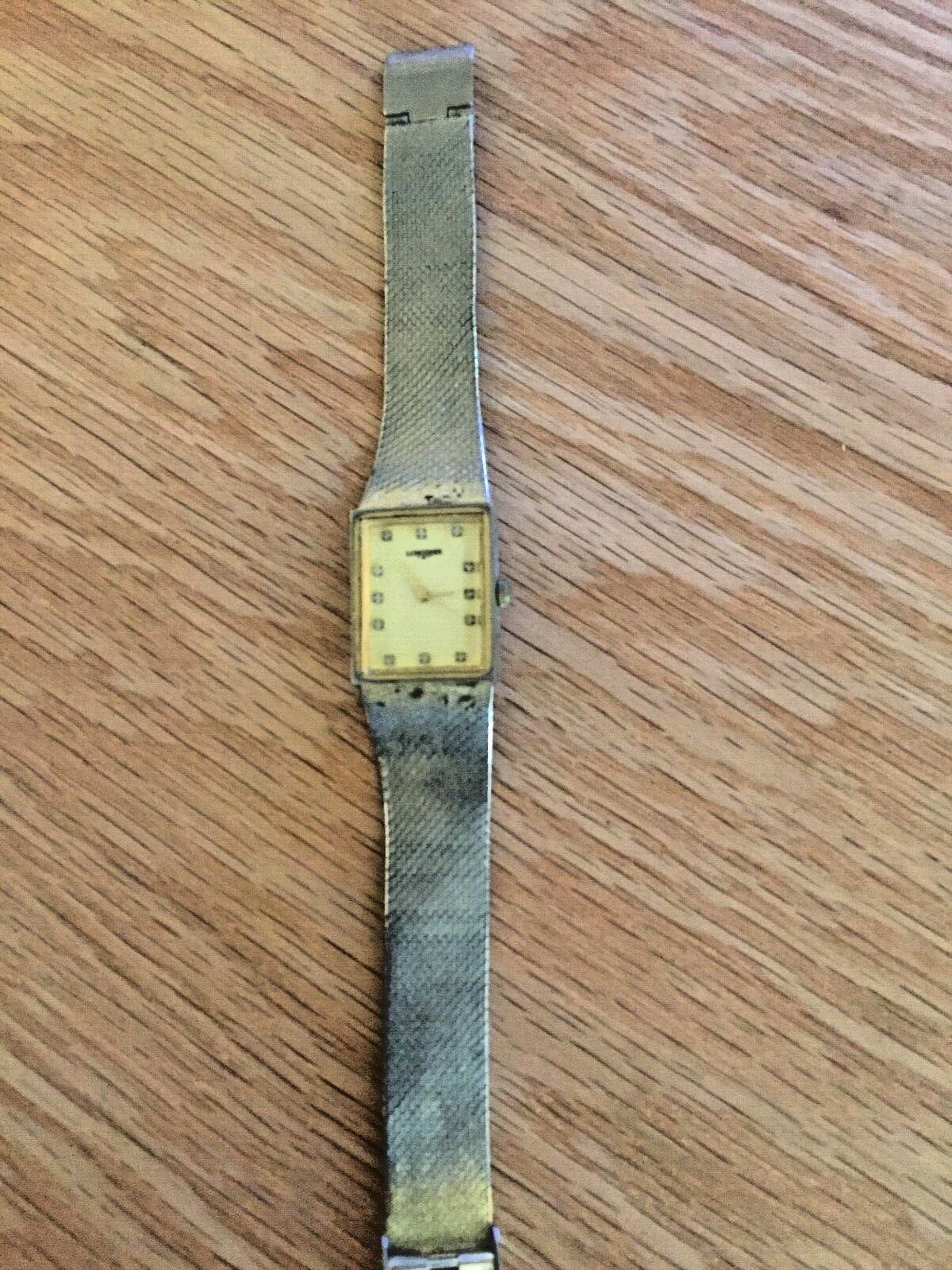 Primary image for Vintage Longines Watch. 14K Plated Mesh Bracelet
