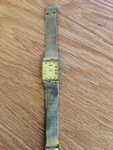 Vintage Longines Watch. 14K Plated Mesh Bracelet  - $123.75