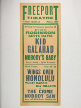 Authentic 1937 Freeport Theatre NY Movie Bill Poster Kid Edward Robinson... - $37.39