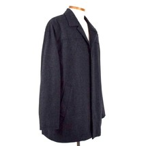 Structure Charcoal Gray Wool Field Coat Quilt Lined Jacket Button Mens S... - $28.70