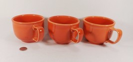 HLC Fiesta Large Cups Soup Cups Set of 3 Coral Colored VGC - $34.95
