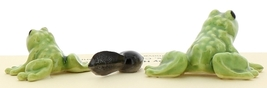 Hagen-Renaker Miniature Ceramic Frog Figurine Tiny Papa Frog, Baby and Tadpole image 2