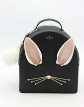 NWT Kate Spade New York Hop To it Rabbit Sammi Black Leather Backpack Ba... - $198.00