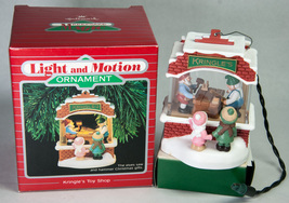 Hallmark Keepsake Light & Motion Ornament 1988 Kringle's Toy Shop - $40.00