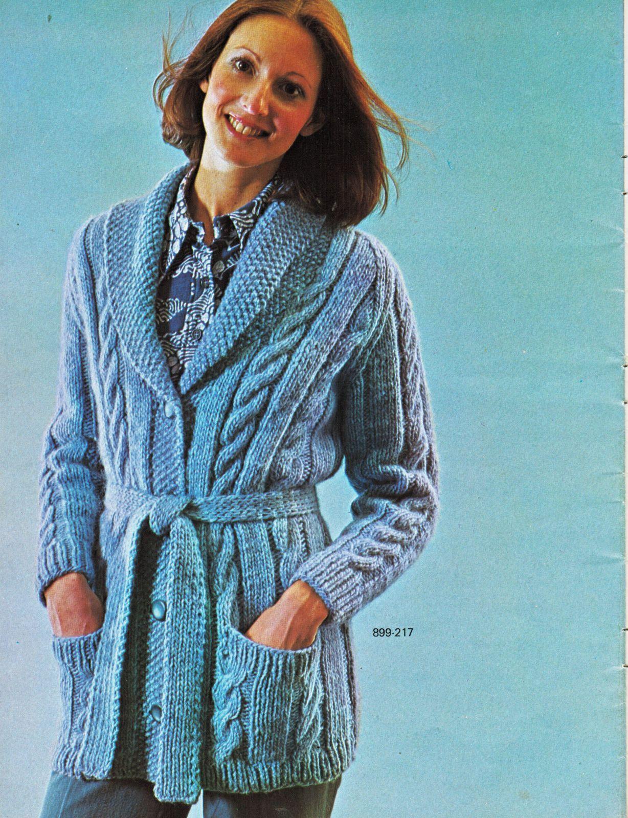 Vtg Misses Mens Bernat 18 Bulky Knit Crochet and 50 similar items