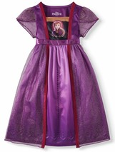 Frozen 2 Anna Short Sleeve Fantasy Nightgown (Toddler Girls) Purple - $14.98