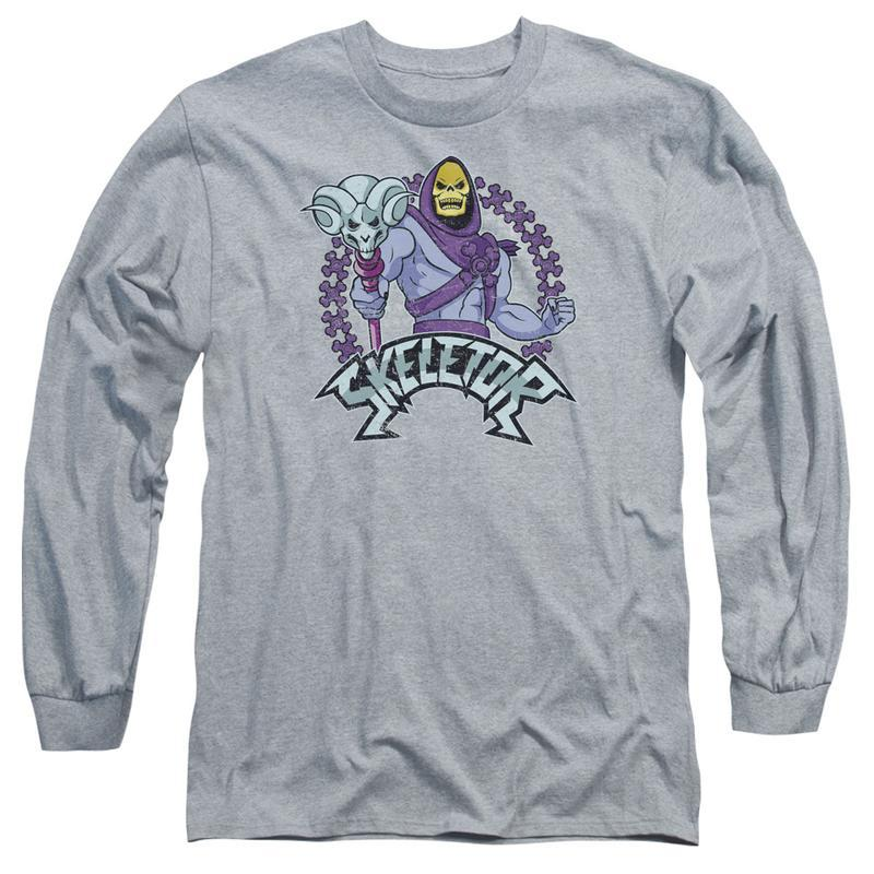 Skeletor Masters of the Universe Retro 80's Animated series long sleeve DRM104B