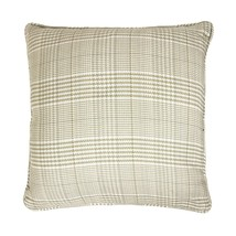 "Filled Luxury Woven Tartan Check Beige Cream Cushion To Match Curtains 17"" - $10.75"