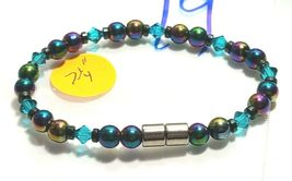 Beaded Bracelet Magnetic Hematite Clasp Single Strand   7 Inch   (MAG-019) image 3