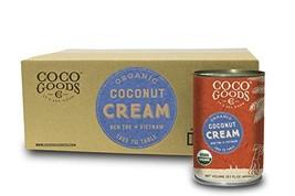 CocoGoodsCo Vietnam Single-Origin Organic Coconut Cream 13.5 fl. oz - Gluten-fre