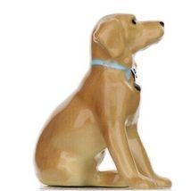 Hagen Renaker Dog Labrador Retriever Sitting Golden Ceramic Figurine image 6