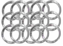 "48 Napkin Rings plastic acrylic 1.75"" diameter- Clear - $9.07"