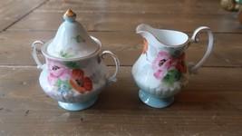 Vintage Porcelain Occupied Japan Creamer and Sugar Bowl - $29.69