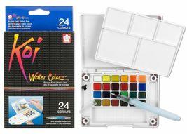 Sakura Koi Watercolor Paint Set with Brush, 12 18 24 30 Colors Sketch Drawing image 3