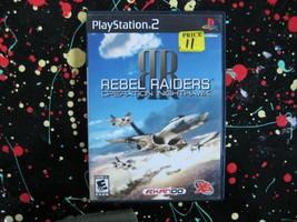 Rebel Raiders Operation Nighthawk PS2 Playstation 2 2006 Airplane Combat Game - $13.25