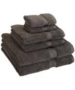 Charcoal 900 GSM 100% Cotton 2 Bath Towels, 2 Hand Towels, 2 Washcloths ... - $59.95