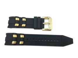 GENUINE INVICTA PRO DIVER WATCH STRAP 26MM Black Gold Polyurethane (6981) - $35.27