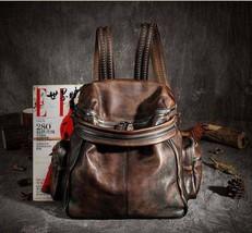 Sale, Vintage Leather Women Backpack, Leather School Backpack, Leather Designer  image 1