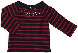 OshKosh B'Gosh Baby Knit Long Sleeve Embellished Shirt Red/Black Size 24 Months - $14.77