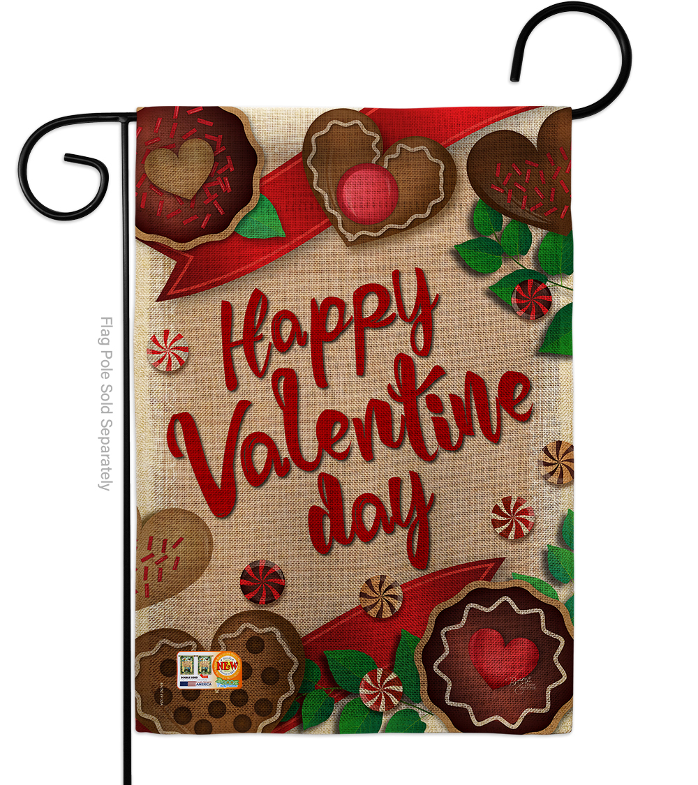 Primary image for Very Sweet Valentine Day Burlap - Impressions Decorative Garden Flag G151056-DB