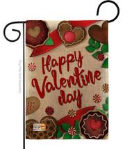 Very Sweet Valentine Day Burlap - Impressions Decorative Garden Flag G15... - $22.97