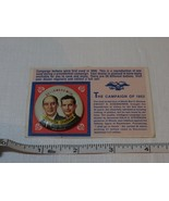 The Campaign of 1952 Stevenson Sparkman SUPER RARE go forward with card ... - $32.07