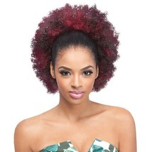 Outre Synthetic Drawstring Ponytail Timeless Afro Large 1B