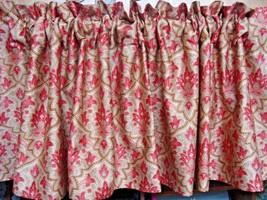 Window Valance New Ralph Lauren Fabric LANGHAM paisley red pink gold jar... - $36.65