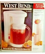 VTG West Bend 2 QT ICED TEA MAKER With 4 Bonus 18 Oz Tupperware Tumblers - NEW - £50.31 GBP