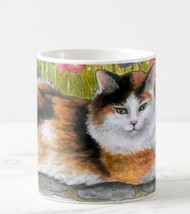 Coffee Mug Cup 11oz or 15oz Made USA Cat 595 Tortie Shell tortoise art L... - $19.99+