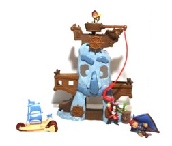 Disney's Jake and the Neverland Pirates Hook's Adventure Rock + Figures Lot - $32.44
