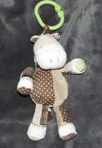 CARTER'S Tan Beige Brown Light Green BABY Non-Musical Clip Toy PONY Hors... - $12.86