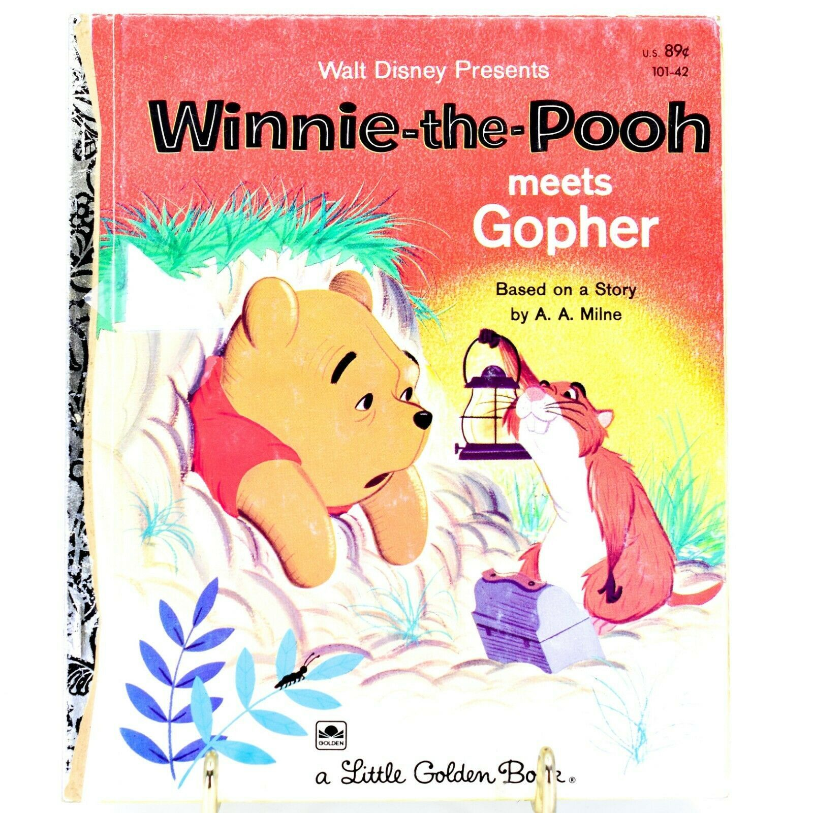 A Little Golden Book Walt Disney Winnie-the-Pooh Meets Gopher 101-42 1st Edition