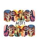 Water Transfer Watermark Art Nails Decal Sticker Manicure Dream catcher ... - $1.84