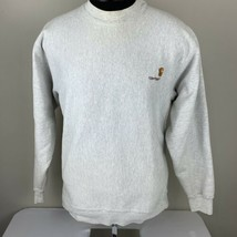 Vintage Carhartt Sweatshirt Crewneck Medium USA 80s 90s Gray Work Casual - $39.99