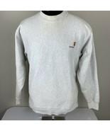 Vintage Carhartt Sweatshirt Crewneck Medium USA 80s 90s Gray Work Casual - $39.99
