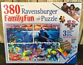 Ravensburger Puzzle Family Fun 380 Pieces Ocean Marvels Dolphin Fish Coral - $49.99