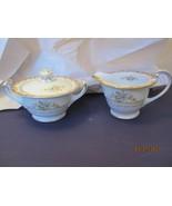 Noritake China - Gold Trim Floral -- Sugar and Creamer - $39.10