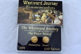 2004 Westward Journey Peace Medal Nickel Commemorative Gold Edition P&D Set - $5.34