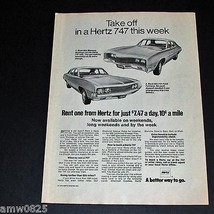 VINTAGE PRINT AD HERTZ CAR RENTAL 1970 MERCURY MONTEGO FORD FAIRLANE CAN... - $8.28