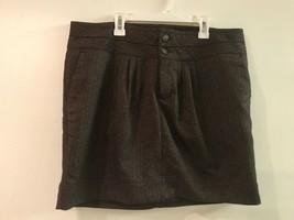 Gap Womens Skirt Brown Size 14 Herringbone Stretch Lined Career - $18.95