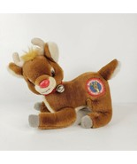 """Vintage Rudolph the Red Nosed Reindeer Plush Animal Applause 10"""" Floppy - $24.99"""